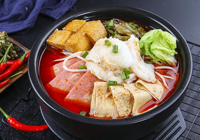 麻辣酸菜鱼米线